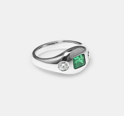 Emerald diand ring